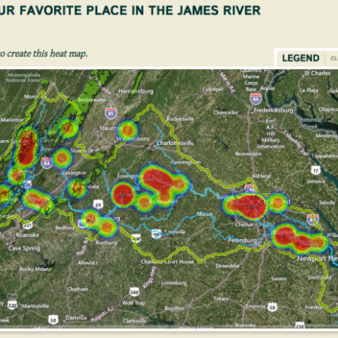 "Results of a Geopoll asking ""Where is your favorite place in the James River watershed?"" See more Geopolls in Your Vision section of this site."